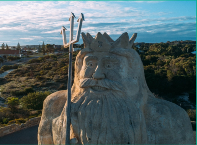 king neptune sculpture Channel 7 Get Reel Two Rocks - Atlantis Beach